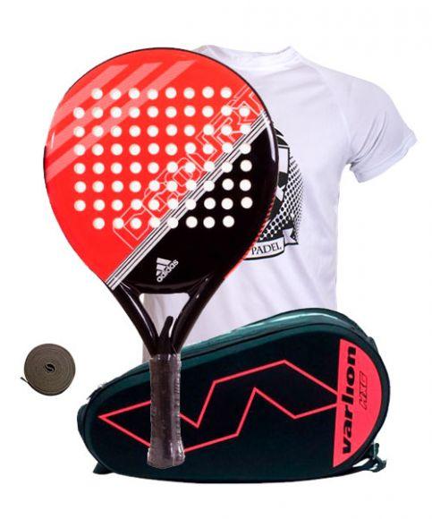 Apelar a ser atractivo toque tenaz  Pack Adidas Fast Court y paletero Varlion Hexagon Coral| Ofertas de packs  Adidas de pádel