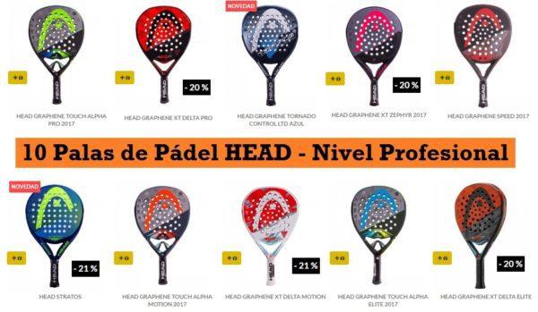 Palas de Pádel HEAD 2017
