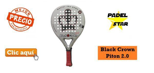 Pala de Pádel Rugosa Black Crown Piton 2.0