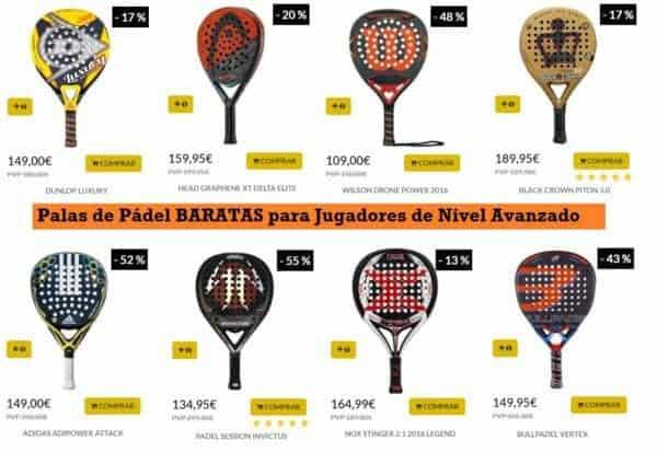 raquetas de padel baratas