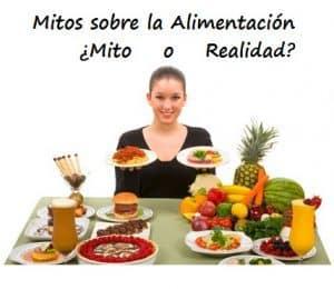 mitos sobre alimentación