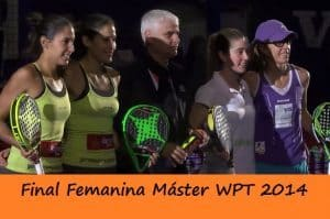 final femenina master world padel tour 2014