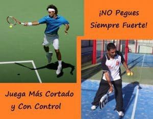Pasa de golpear fuerte en tenis al padel con control