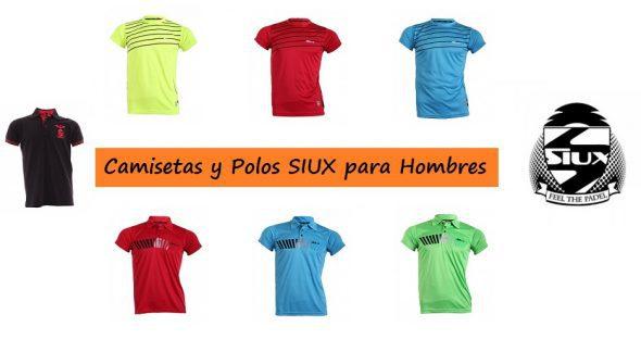 Camisetas y Polos de Pádel para Hombres de la Marca SIUX.