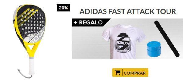 Oferta Pala Adidas Fast Attack Tour Negra