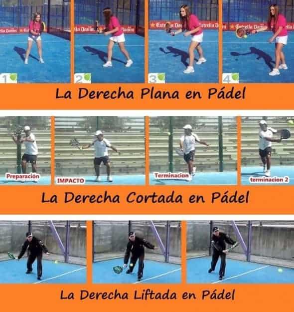 Imagen para Ver la Diferencia entre los Golpes de DERECHA Plana, Cortada y Liftada