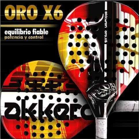 Pala Akkeron Oro X6 con los colores de España
