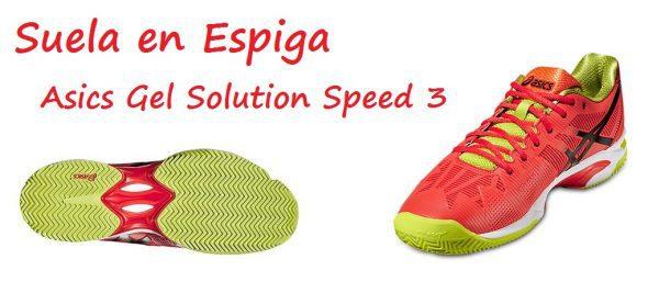 Suela en Espiga de las Asics Gel Solution Speed 3