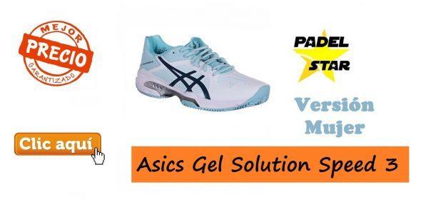 Zapatillas de Mujer para Jugar al Pádel Asics Gel Solution Speed 3
