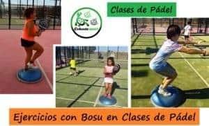 Ejercicios con BOSU en Clases de Pádel