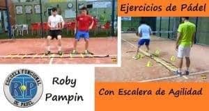 ejercicios de padel con escalera de agilidad