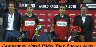 Campeones World Pádel Tour Buenos Aires 2016
