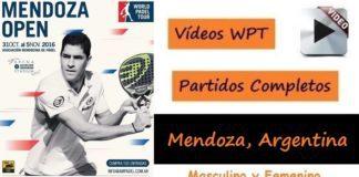 Partidos Completos World Padel Tour Mendoza Argentina