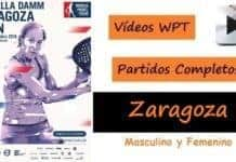 Partidos Completos World Padel Tour Zaragoza 2016