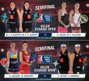 Partidos en Directo Semifinales Femeninas World Pádel Tour San Sebastián