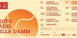 Circuito de Padel Estrella Damma Madrid y Valencia