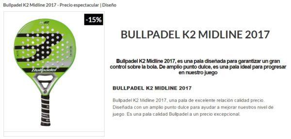 Pala Bullpadel K2 2017