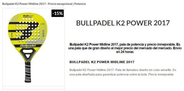 Pala Bullpadel K2 POWER