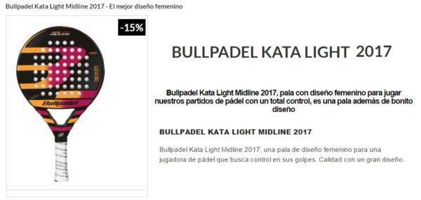 Pala Bullpadel KATA LIGHT