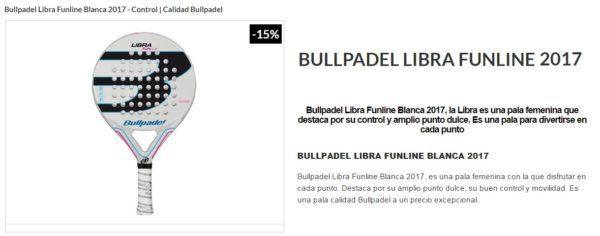 Pala Bullpadel LIBRA 2017