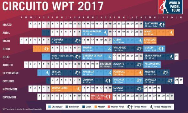 Calendario World Pádel Tour 2017