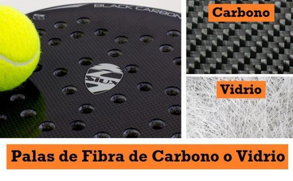 Palas de Fibra de Carbono o Vidrio