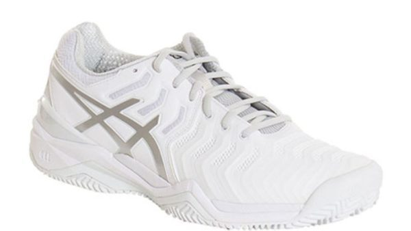 Asics Gel Resolution 7 Clay Blanco Plata