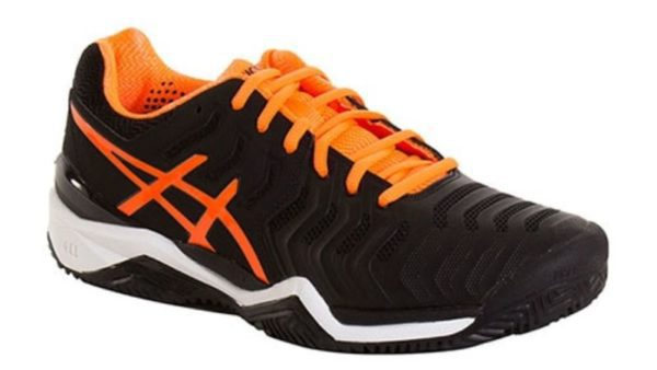 Asics Gel Resolution 7 Clay Negro Naranja