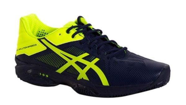 Asics Gel Solution Speed 3 Clay Marino Amarillo Fluor