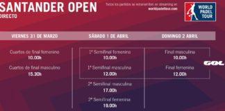 Partidos en Directo World Padel Tour Santander