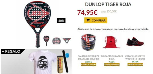 Oferta Pala DUNLOP TIGER