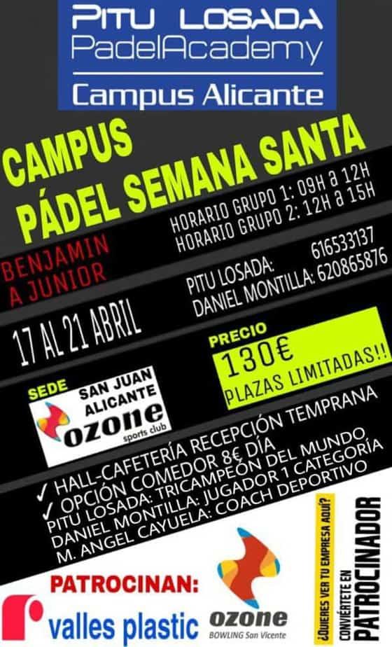 Campus de Pádel de Semana Santa en Alicante