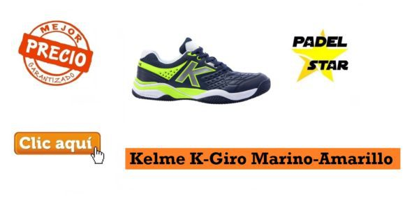 Zapatillas Padel Kelme K-Giro Marino-Amarillo