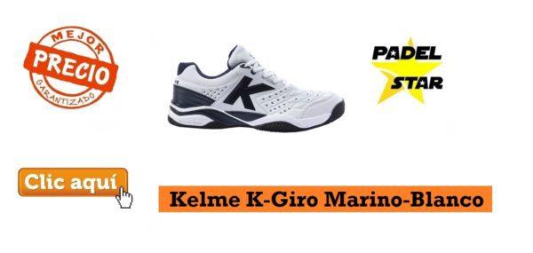 Zapatillas Padel Kelme K-Giro Marino-Blanco