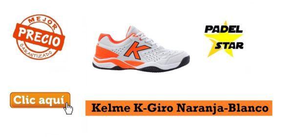 Zapatillas Padel Kelme K-Giro Naranja-Blanco