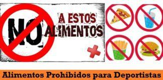 Alimentos Prohibidos en Deporte para Rendir en Partidos