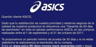 Garantia de Reembolso Asics Padel