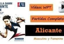 Partidos Padel Completos WPT Alicante 2017