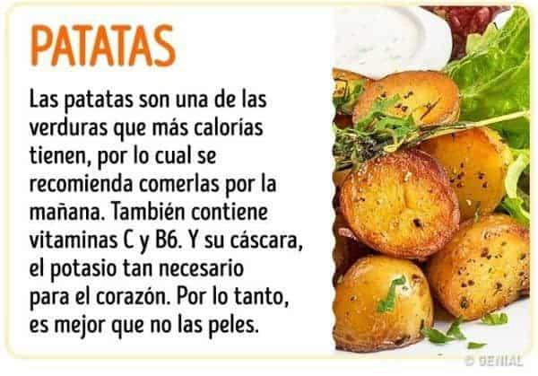 Beneficios de comer patatas