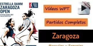 Partidos Padel Completos World Padel Tour Zaragoza 2017