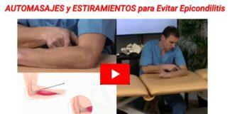Automasajes y estiramientos epicondilitis