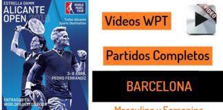 Partidos World Padel Tour Barcelona 2018