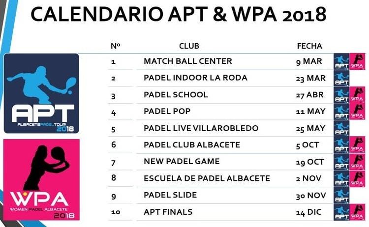 calendario torneos padel albacete ajpaa 18