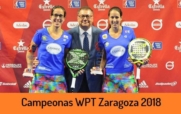 Campeones World Padel Tour FEMENINO Zaragoza 2018