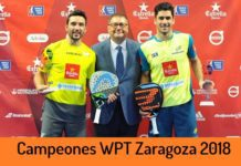 Campeones World Padel Tour Zaragoza 2018