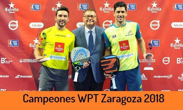 Campeones World Padel Tour Zaragoza 2018
