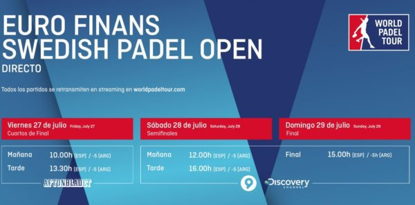 Horarios World Padel Tour SUECIA