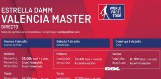 Horarios World Padel Tour Valencia