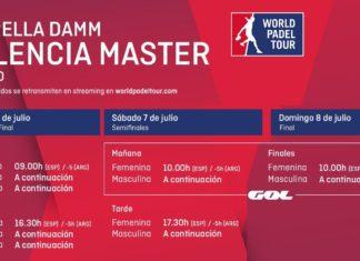 Horarios World Padel Tour Valencia