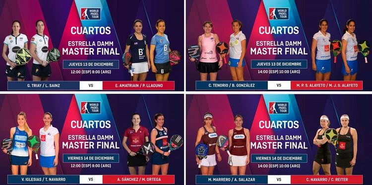 CUARTOS de Final Femenino – MÁSTER Pádel | PadelStar